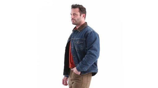 Guide Gear Men's Quilt Lined Denim Jacket 360 View - image 6 from the video