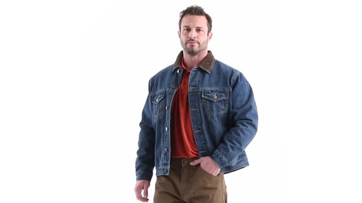 Guide Gear Men's Quilt Lined Denim Jacket 360 View - image 7 from the video