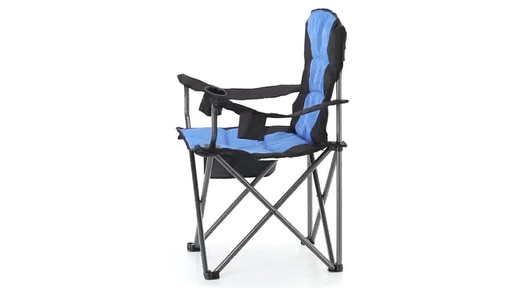Guide Gear Oversized King Camp Chair 500 lb. Capacity Blue 360 View - image 1 from the video