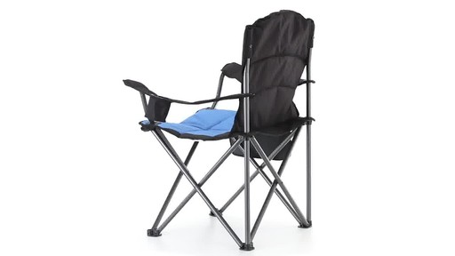 Guide Gear Oversized King Camp Chair 500 lb. Capacity Blue 360 View - image 10 from the video