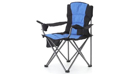 Guide Gear Oversized King Camp Chair 500 lb. Capacity Blue 360 View - image 2 from the video
