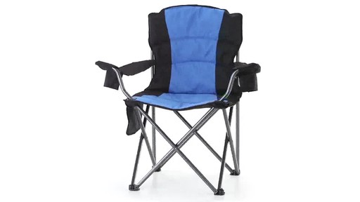 Guide Gear Oversized King Camp Chair 500 lb. Capacity Blue 360 View - image 3 from the video