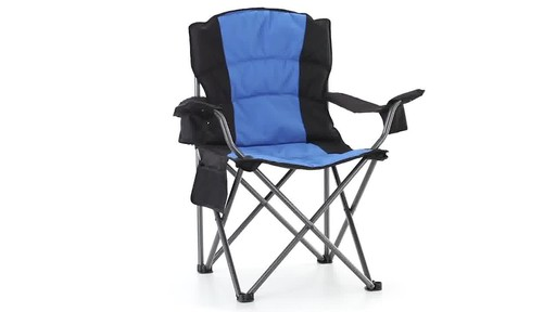 Guide Gear Oversized King Camp Chair 500 lb. Capacity Blue 360 View - image 4 from the video