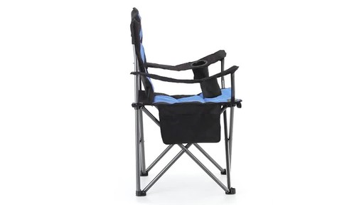 Guide Gear Oversized King Camp Chair 500 lb. Capacity Blue 360 View - image 6 from the video