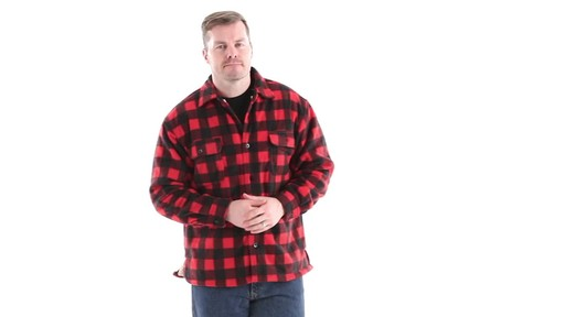 Guide Gear Men's Sherpa Lined Fleece CPO Shirt 360 View - image 1 from the video