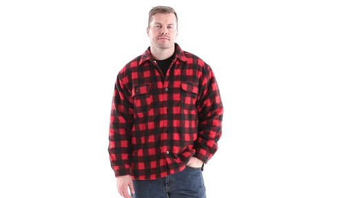 Guide Gear Men's Sherpa Lined Fleece CPO Shirt 360 View - image 10 from the video