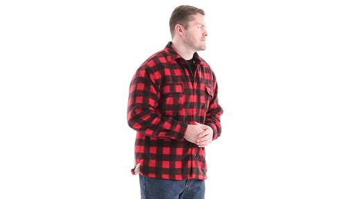 Guide Gear Men's Sherpa Lined Fleece CPO Shirt 360 View - image 2 from the video