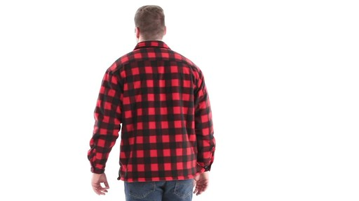 Guide Gear Men's Sherpa Lined Fleece CPO Shirt 360 View - image 5 from the video