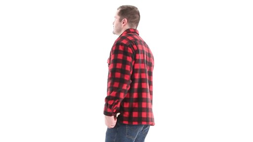 Guide Gear Men's Sherpa Lined Fleece CPO Shirt 360 View - image 6 from the video
