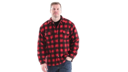 Guide Gear Men's Sherpa Lined Fleece CPO Shirt 360 View - image 8 from the video