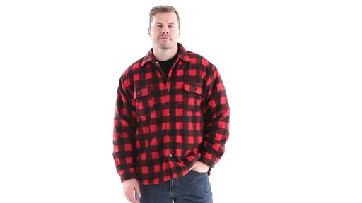 Guide Gear Men's Sherpa Lined Fleece CPO Shirt 360 View - image 9 from the video