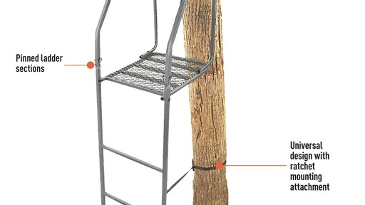 Guide Gear 16' Archer's Ladder Tree Stand - image 4 from the video