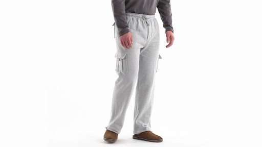 Guide Gear Men's Cargo Sweatpants 360 View - image 2 from the video