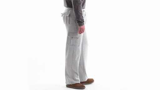 Guide Gear Men's Cargo Sweatpants 360 View - image 3 from the video