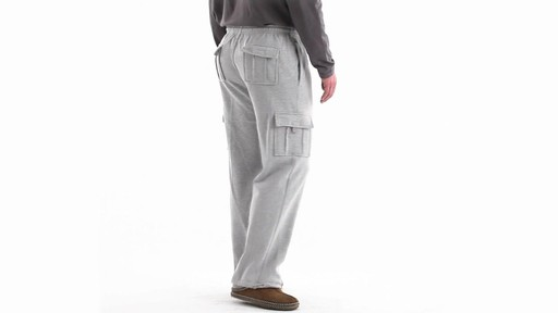Guide Gear Men's Cargo Sweatpants 360 View - image 4 from the video