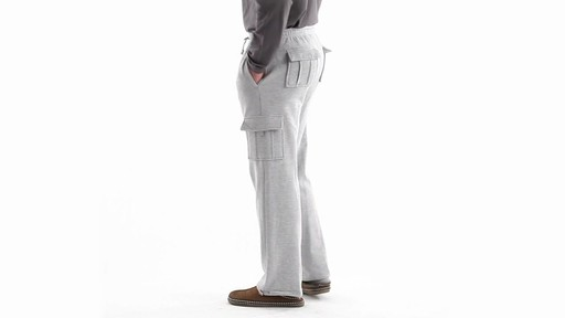 Guide Gear Men's Cargo Sweatpants 360 View - image 7 from the video