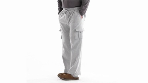 Guide Gear Men's Cargo Sweatpants 360 View - image 8 from the video