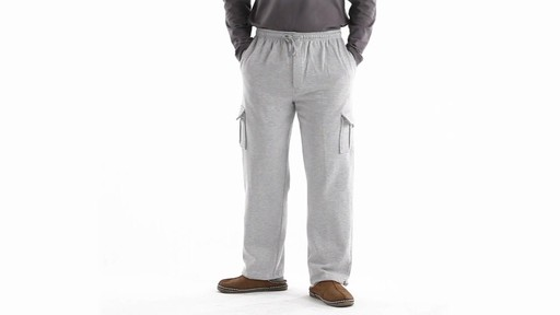 Guide Gear Men's Cargo Sweatpants 360 View - image 9 from the video