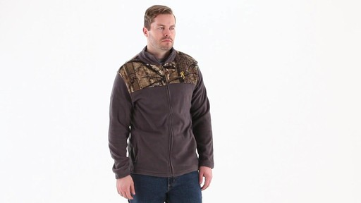 Browning Men's Camo Yoke Fleece Jacket 360 View - image 1 from the video