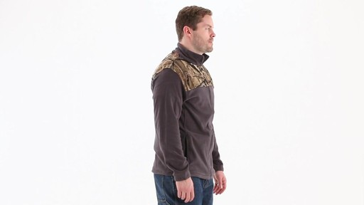 Browning Men's Camo Yoke Fleece Jacket 360 View - image 2 from the video