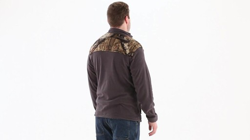 Browning Men's Camo Yoke Fleece Jacket 360 View - image 3 from the video