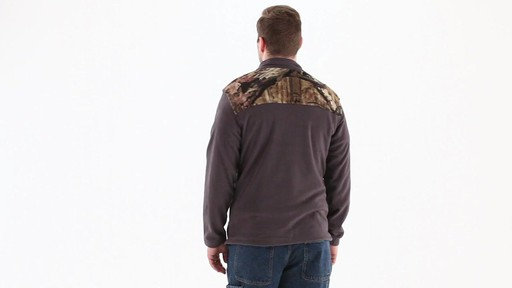 Browning Men's Camo Yoke Fleece Jacket 360 View - image 4 from the video