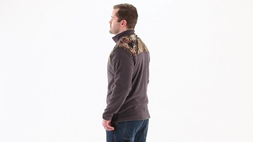 Browning Men's Camo Yoke Fleece Jacket 360 View - image 5 from the video