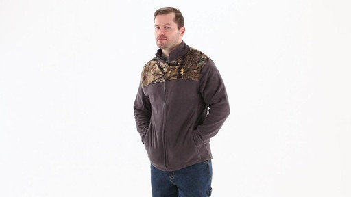 Browning Men's Camo Yoke Fleece Jacket 360 View - image 6 from the video