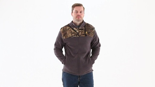 Browning Men's Camo Yoke Fleece Jacket 360 View - image 7 from the video