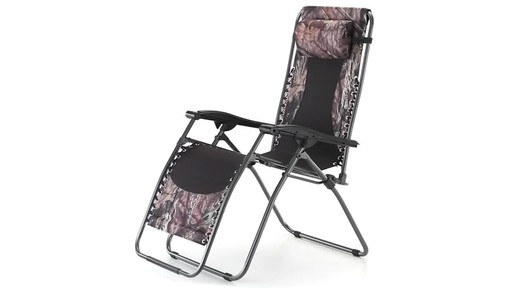 Guide Gear Oversized Mossy Oak Break-Up COUNTRY Zero-Gravity Chair 500 lb. 360 View - image 1 from the video