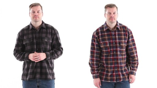 Guide Gear Men's CPO Fleece Shirt 360 View - image 1 from the video
