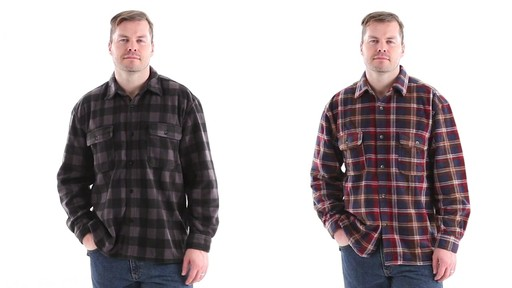 Guide Gear Men's CPO Fleece Shirt 360 View - image 10 from the video