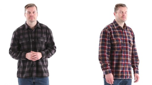 Guide Gear Men's CPO Fleece Shirt 360 View - image 2 from the video