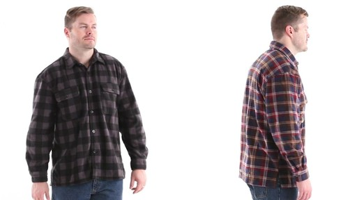 Guide Gear Men's CPO Fleece Shirt 360 View - image 3 from the video