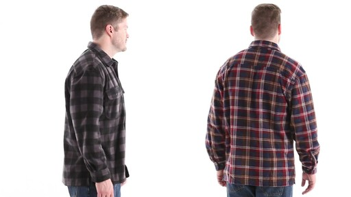 Guide Gear Men's CPO Fleece Shirt 360 View - image 4 from the video