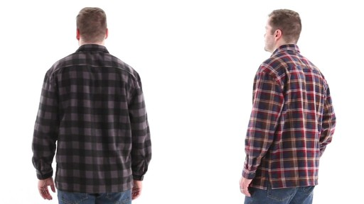 Guide Gear Men's CPO Fleece Shirt 360 View - image 6 from the video