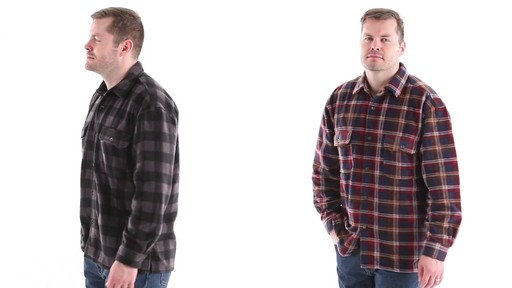 Guide Gear Men's CPO Fleece Shirt 360 View - image 8 from the video