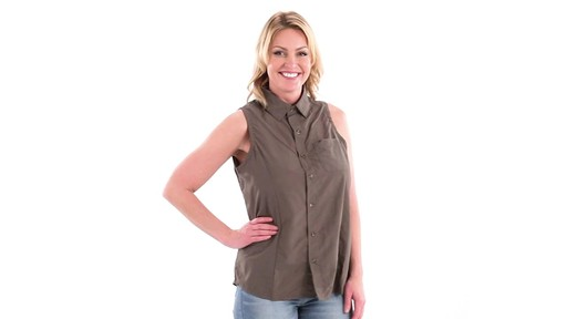 Guide Gear Women's Sleeveless Button-down Shirt 360 View - image 1 from the video