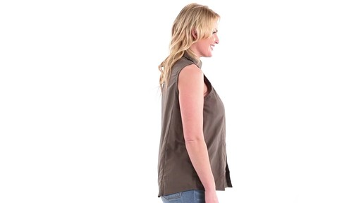 Guide Gear Women's Sleeveless Button-down Shirt 360 View - image 2 from the video