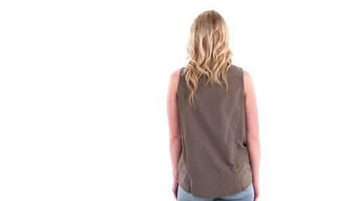 Guide Gear Women's Sleeveless Button-down Shirt 360 View - image 4 from the video