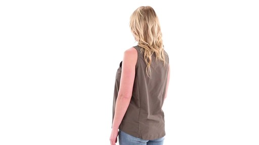 Guide Gear Women's Sleeveless Button-down Shirt 360 View - image 5 from the video