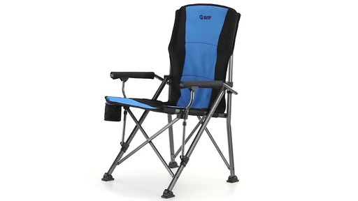 Guide Gear Oversized Champion Hard Arm Camp Chair Blue 360 View - image 1 from the video