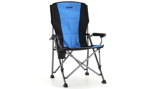 Guide Gear Oversized Champion Hard Arm Camp Chair Blue 360 View - image 3 from the video
