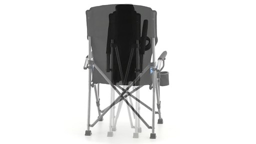 Guide Gear Oversized Champion Hard Arm Camp Chair Blue 360 View - image 6 from the video