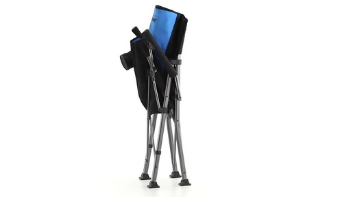 Guide Gear Oversized Champion Hard Arm Camp Chair Blue 360 View - image 9 from the video