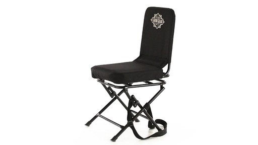 Guide Gear Swivel Hunting Chair Black 360 View - image 2 from the video