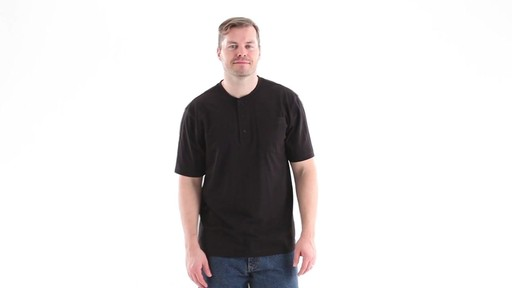 Guide Gear Men's Stain Kicker Henley Pocket T Shirt With Teflon 360 View - image 1 from the video