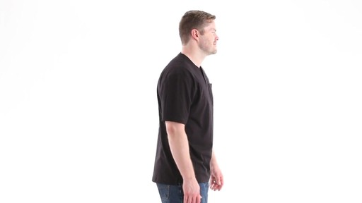 Guide Gear Men's Stain Kicker Henley Pocket T Shirt With Teflon 360 View - image 3 from the video