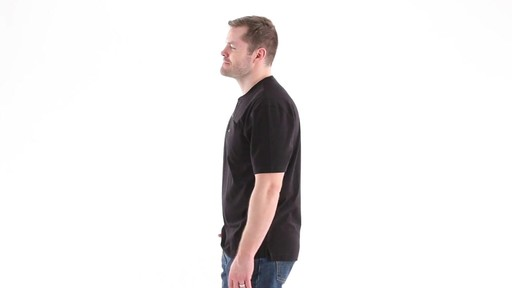 Guide Gear Men's Stain Kicker Henley Pocket T Shirt With Teflon 360 View - image 8 from the video