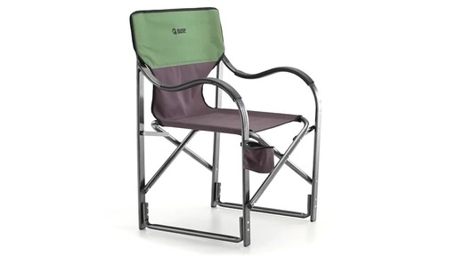 Guide Gear Oversized Aluminum Camp Chair Green 360 View - image 3 from the video